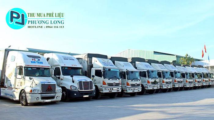 Xe vận chuyển phế liệu của công ty phương Long